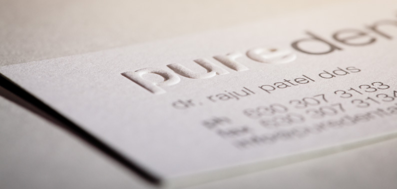 Werner Printing Embossed Business Cards