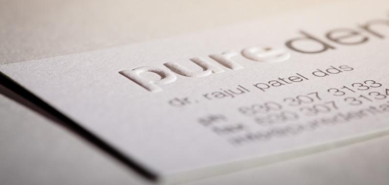 Werner Printing Embossed Business Cards