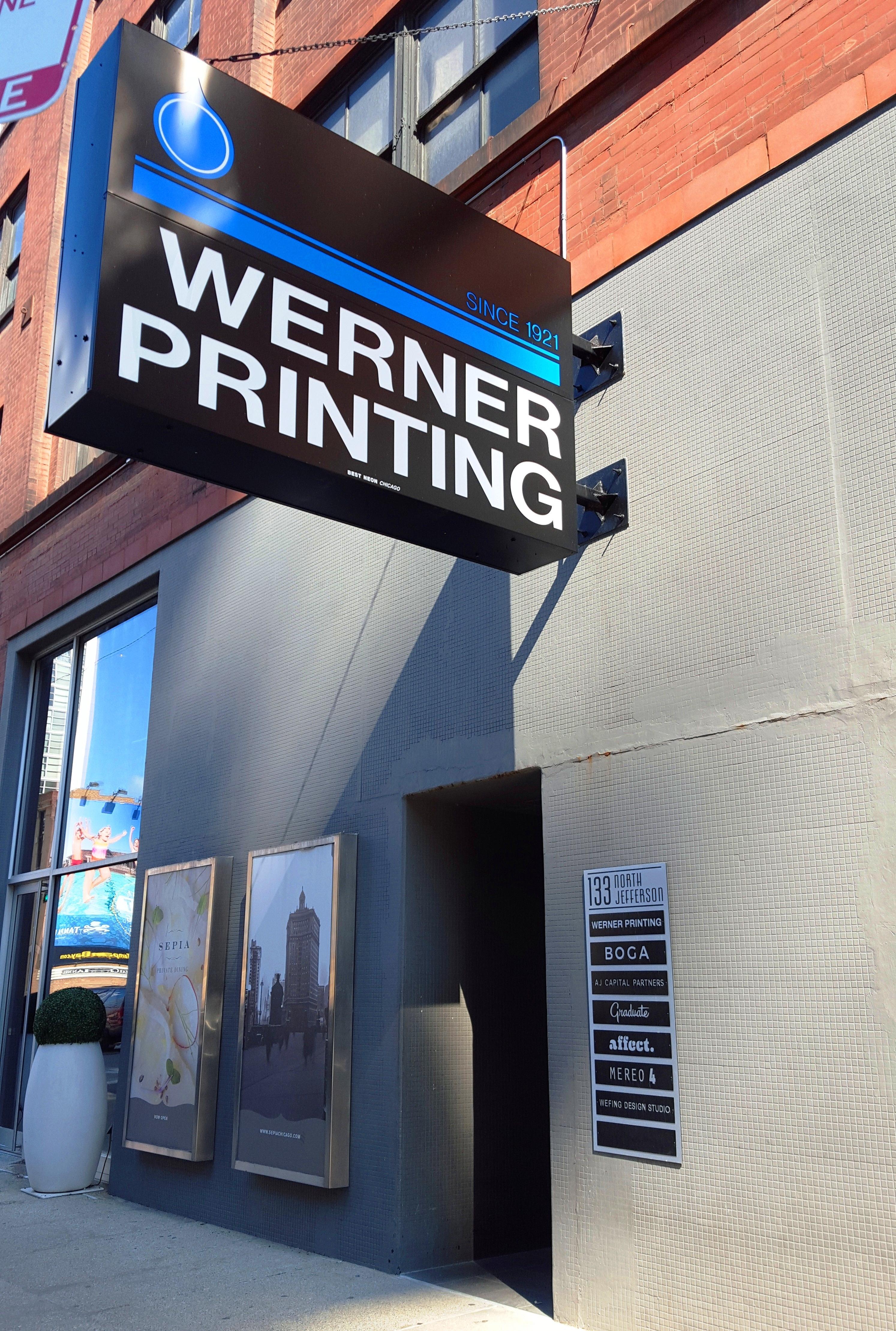 New Sign Werner Printingwerner Printing