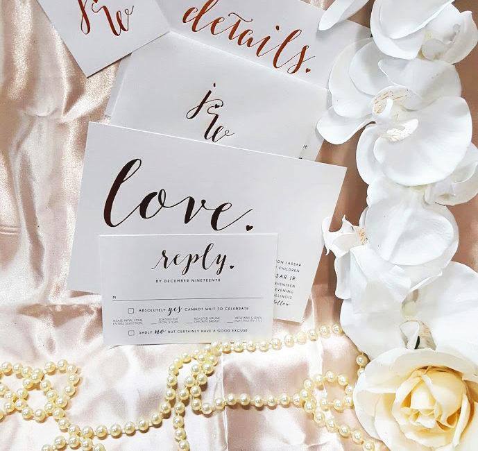 Carlson Craft Wedding Invitation Example